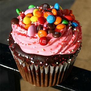 Cupcake de Brigadeiro com M&M's